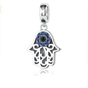 Jewelry - Sterling Silver Khamsa Swarovski Crystals Pendant